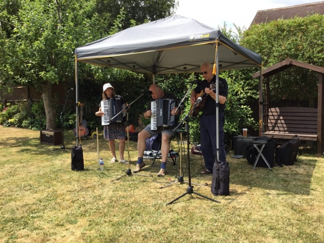 Musicians performing at NGS opening 8th July 2018