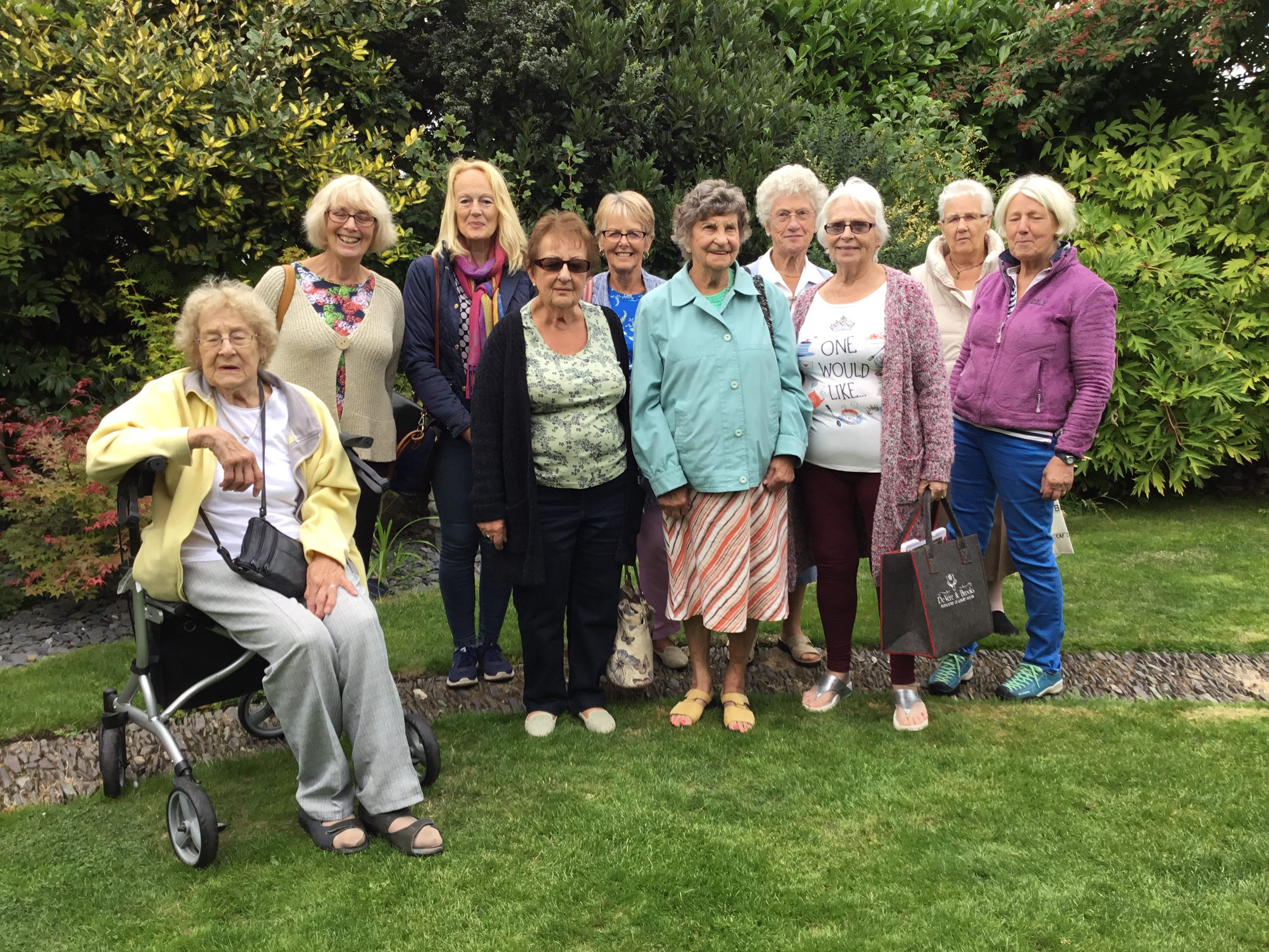 Halstead WI visit to Freda's Garden, September 2018