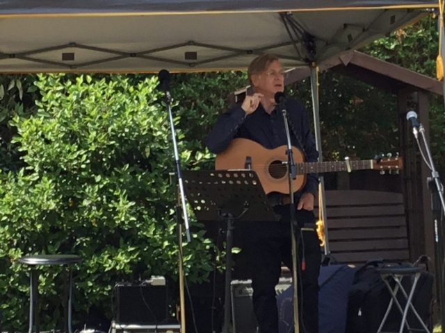 Musician performing at NGS opening 8th July 2018