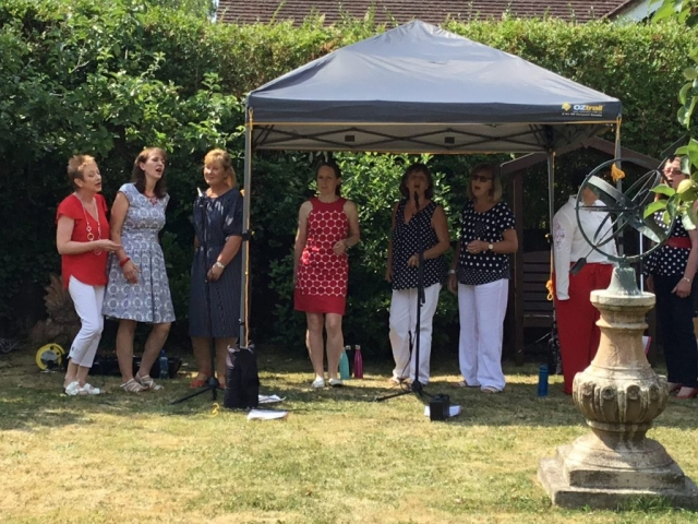Vocal Eclipse performing at NGS opening 8th July 2018