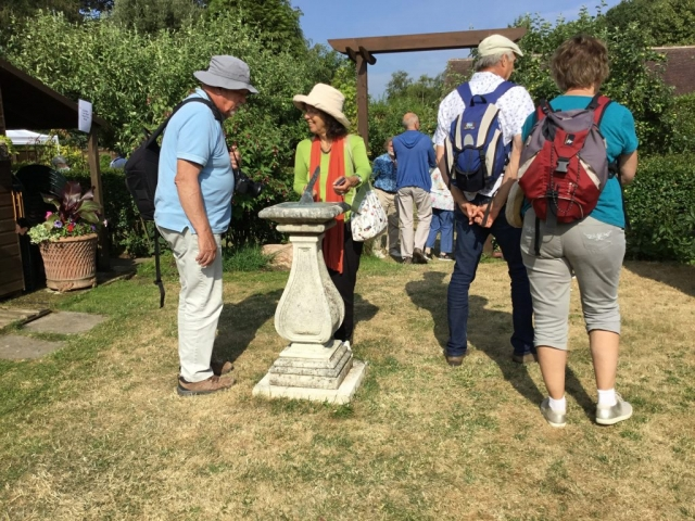 French visitors to Freda's Garden