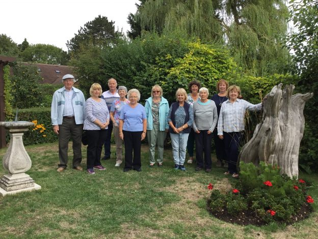 The Petts Wood WI group visit to Freda's Garden