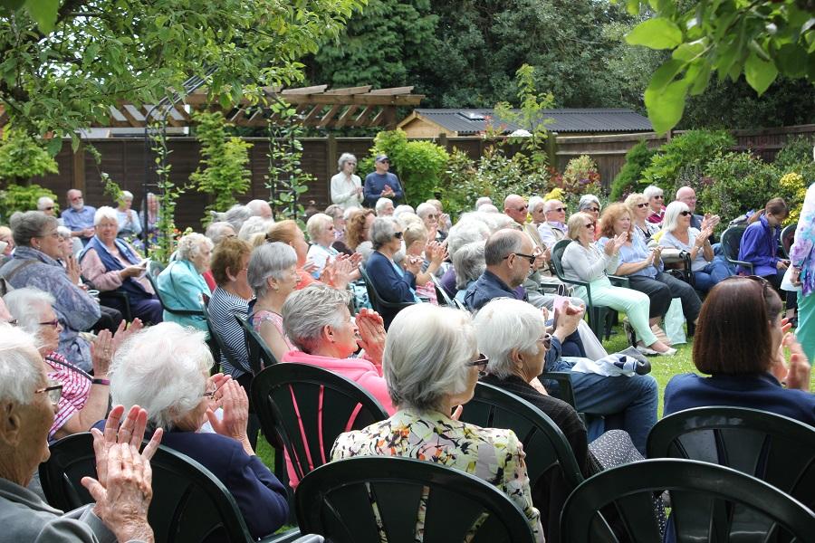 Audience at Music in the Garden, Freda's Garden