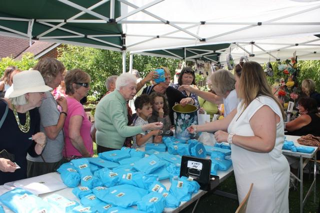 Pot Luck stall at Music in the Garden, Freda's Garden